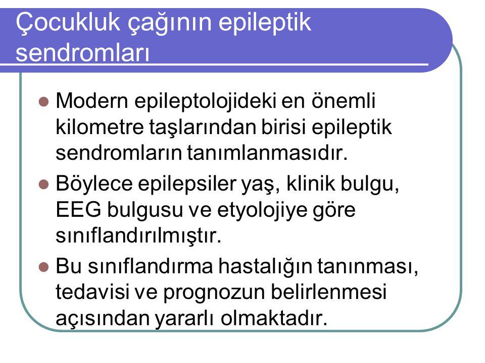 Çocukluk çağının epileptik sendromları