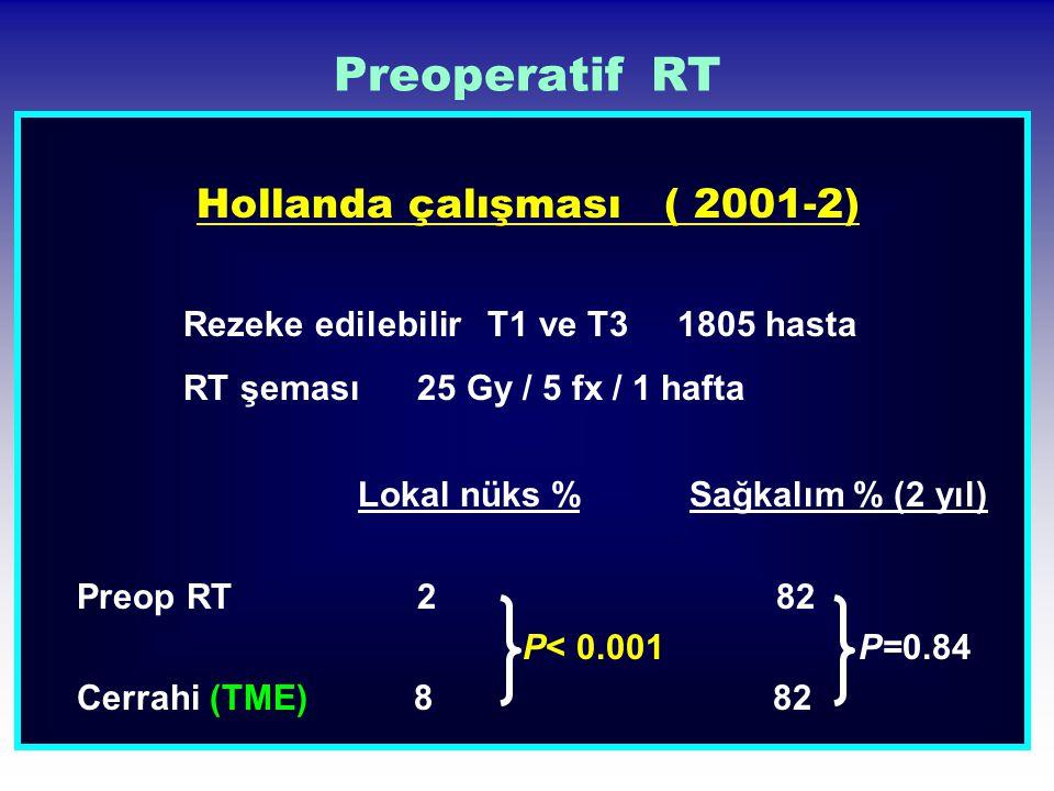 Hollanda çalışması ( 2001-2)