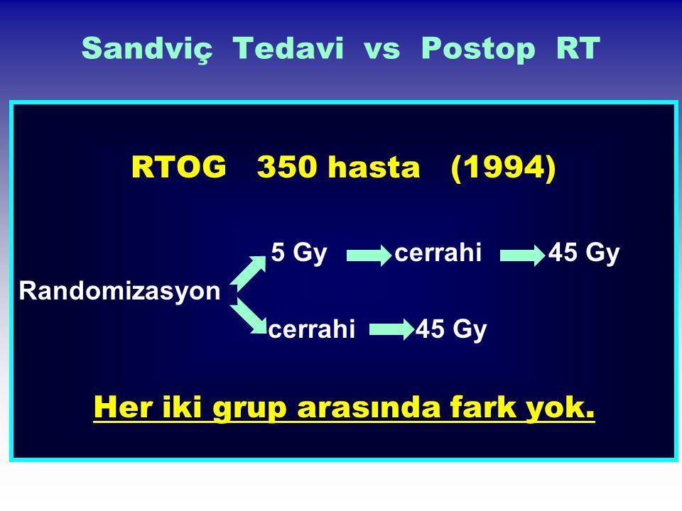 Sandviç Tedavi vs Postop RT