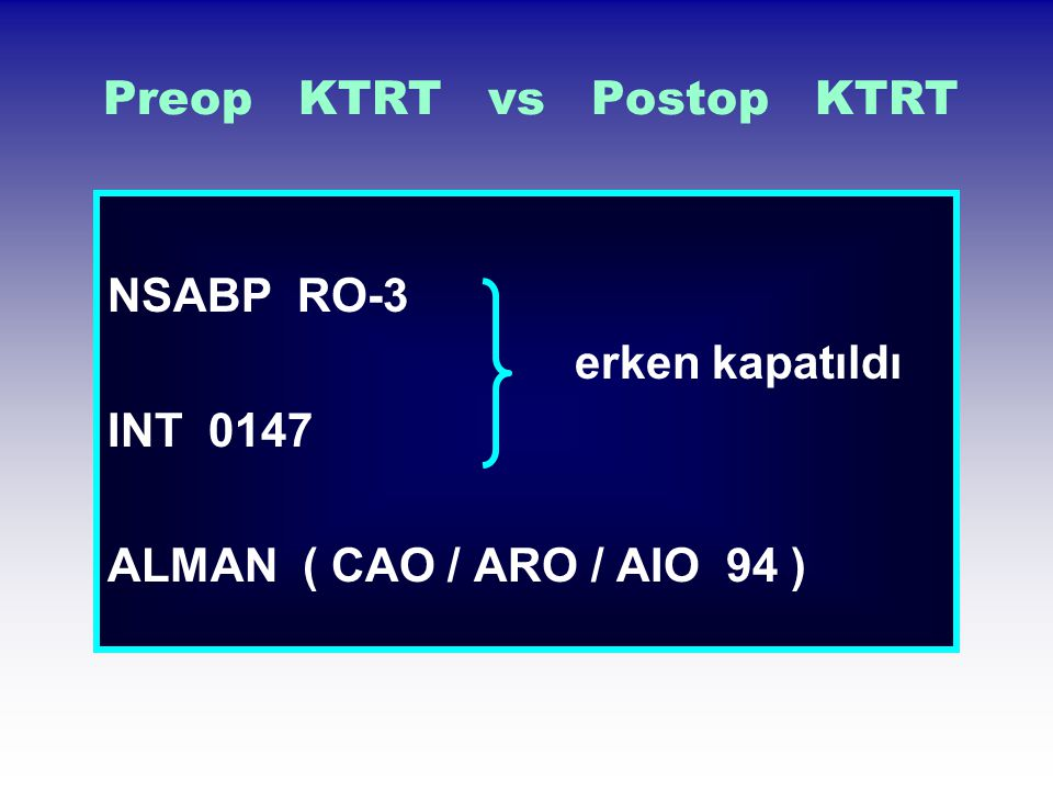 Preop KTRT vs Postop KTRT