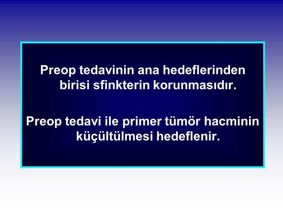 Preop tedavinin ana hedeflerinden birisi sfinkterin korunmasıdır.
