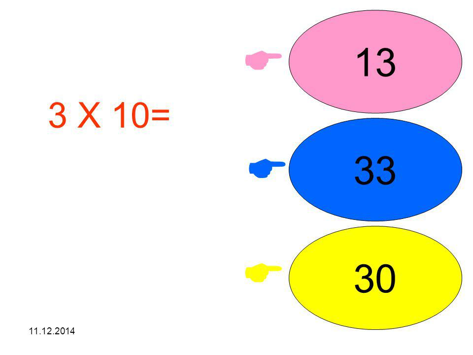 13  3 X 10= işleminin sonucunu seçiniz. 33  30  07.04.2017