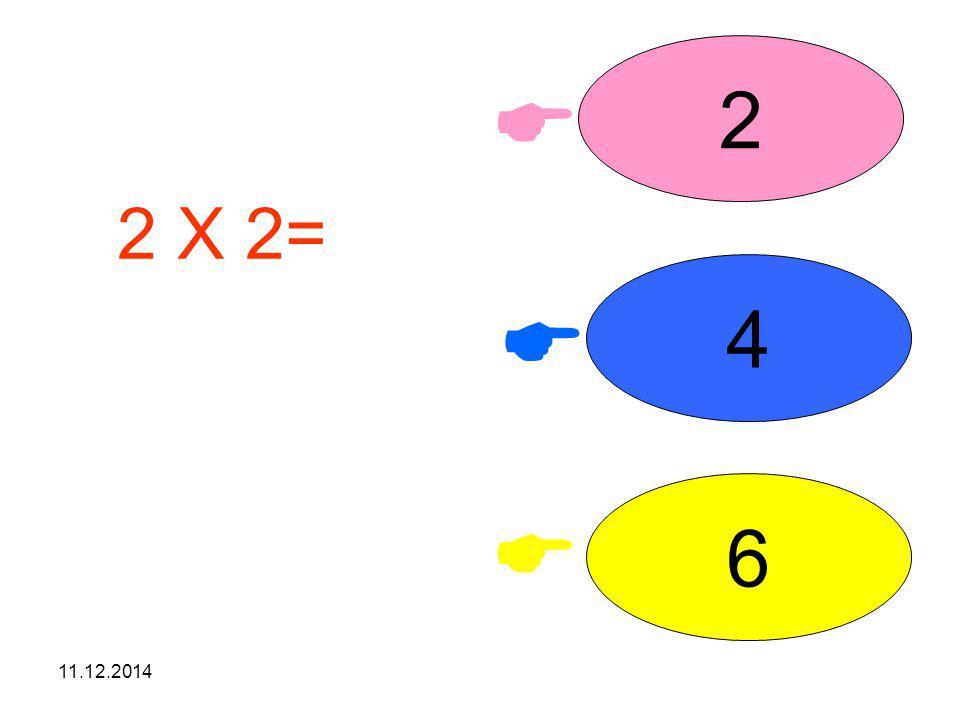 2  2 X 2= işleminin sonucunu seçiniz. 4  6  07.04.2017