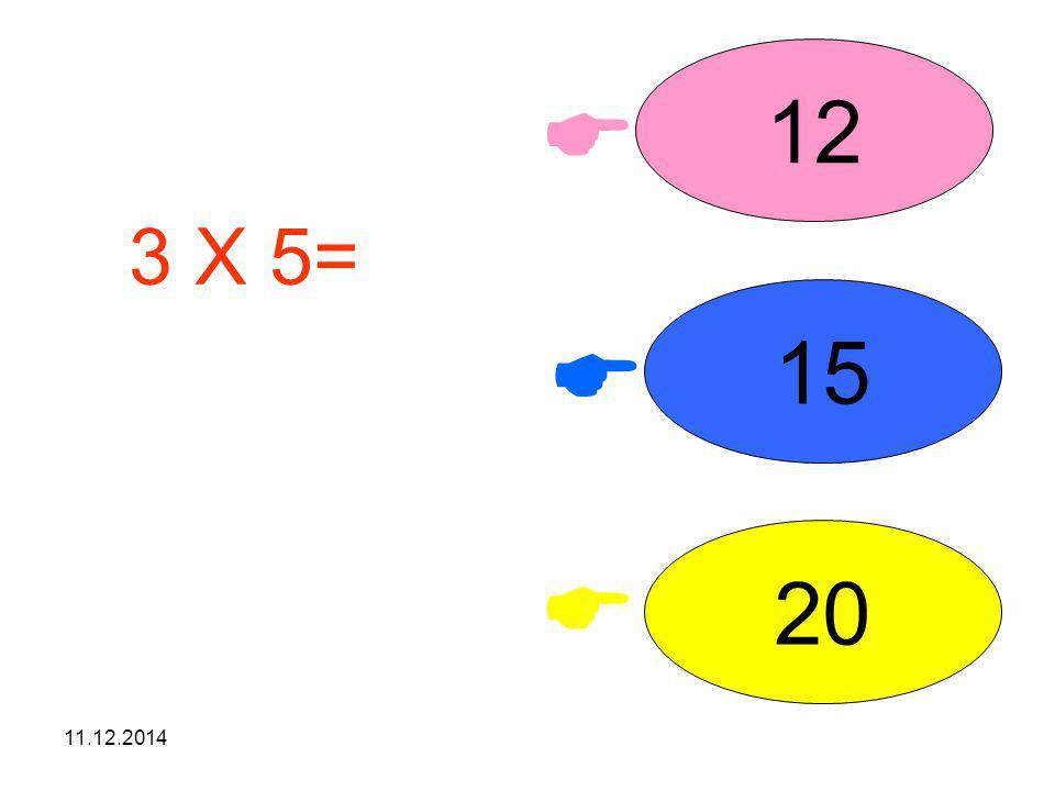 12  3 X 5= işleminin sonucunu seçiniz. 15  20  07.04.2017