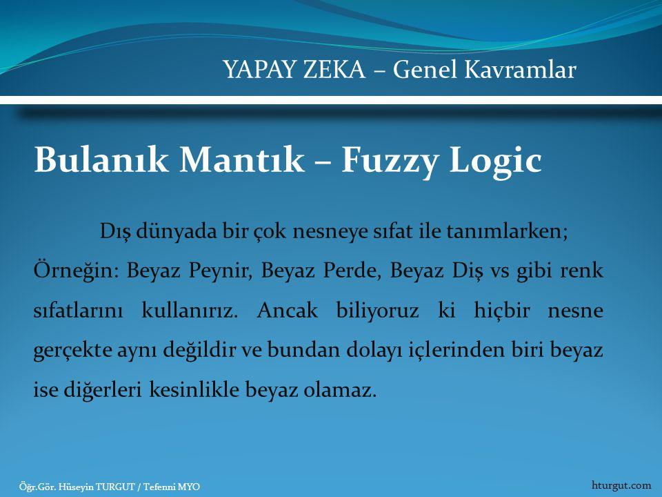 Bulanık Mantık – Fuzzy Logic