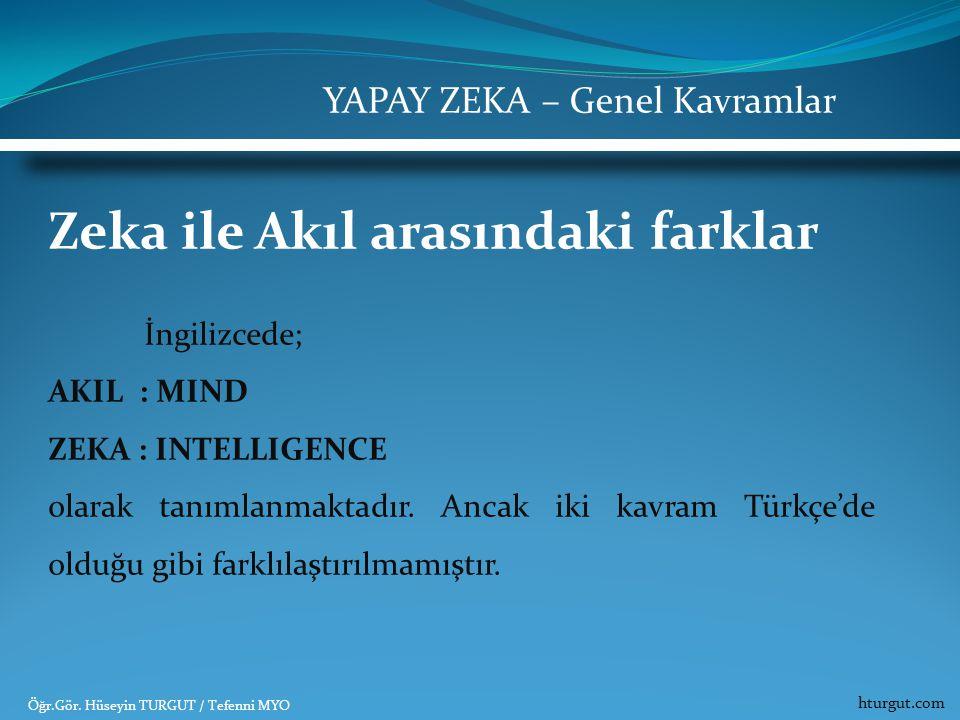 Zeka ile Akıl arasındaki farklar
