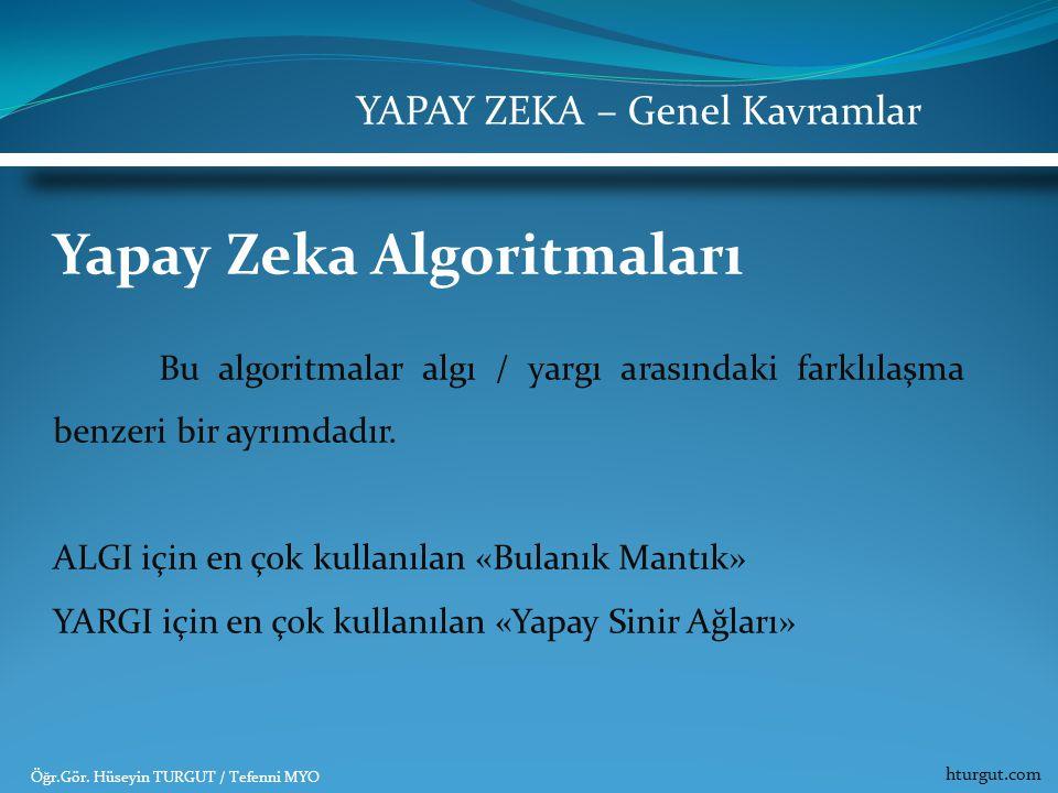 Yapay Zeka Algoritmaları