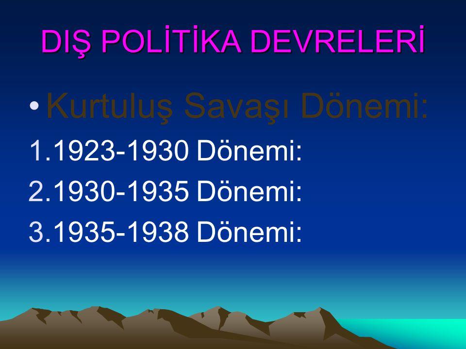 DIŞ POLİTİKA DEVRELERİ
