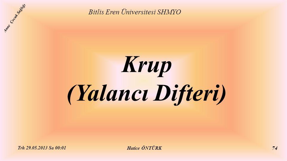 Krup (Yalancı Difteri)
