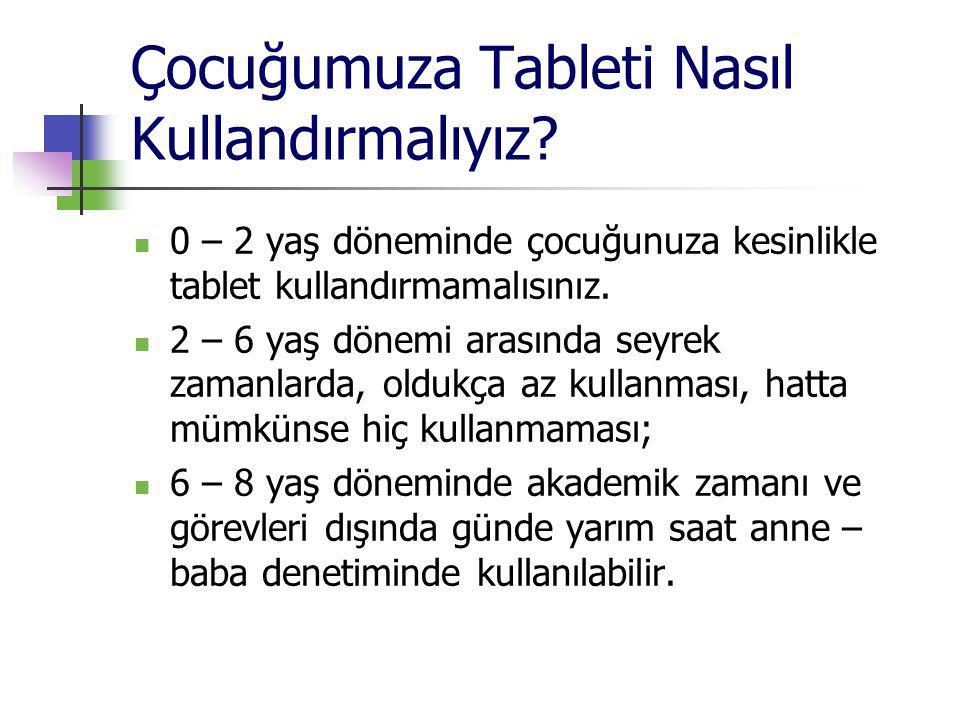 Çocuğumuza Tableti Nasıl Kullandırmalıyız