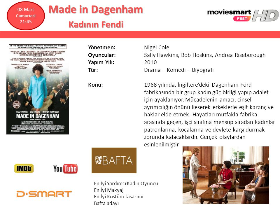Made in Dagenham Kadının Fendi