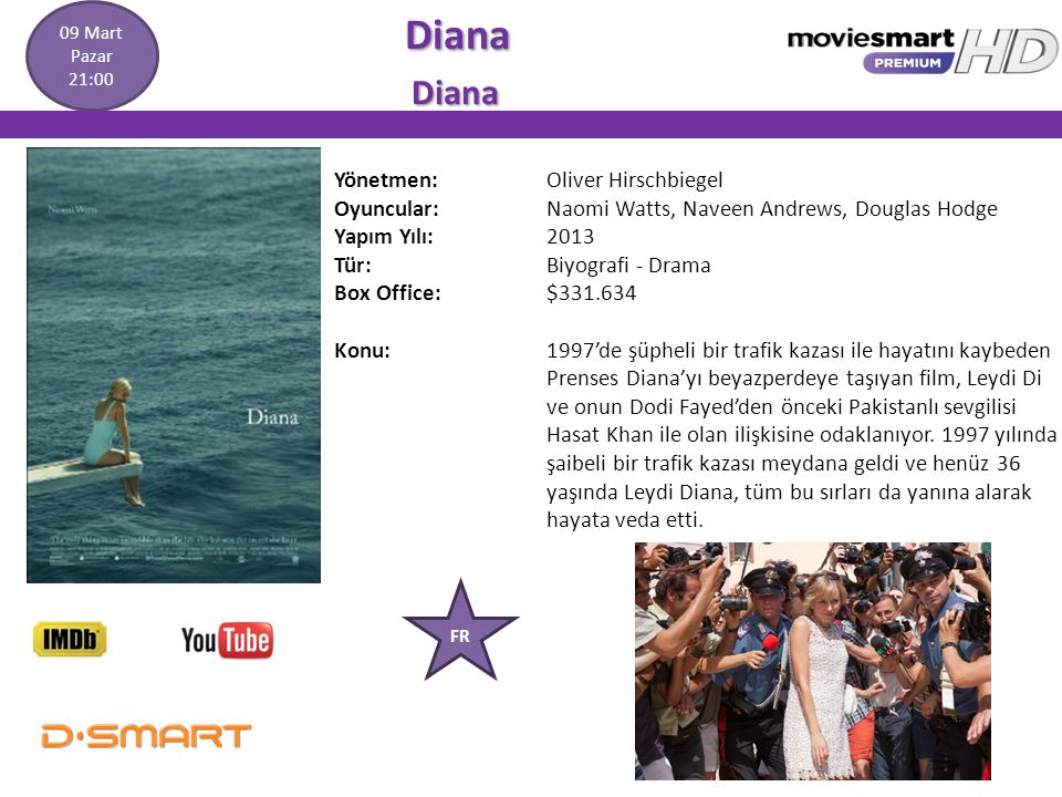 Diana Yönetmen: Oliver Hirschbiegel