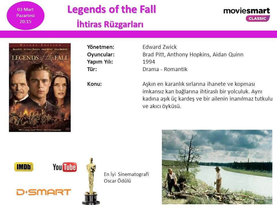 Legends of the Fall İhtiras Rüzgarları