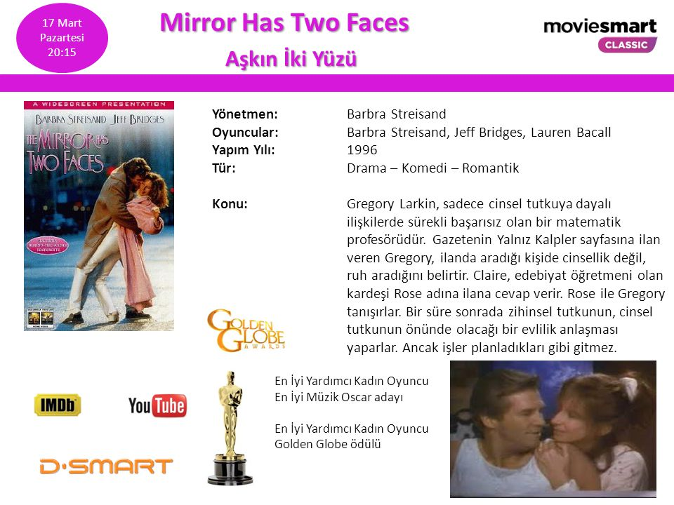 Mirror Has Two Faces Aşkın İki Yüzü