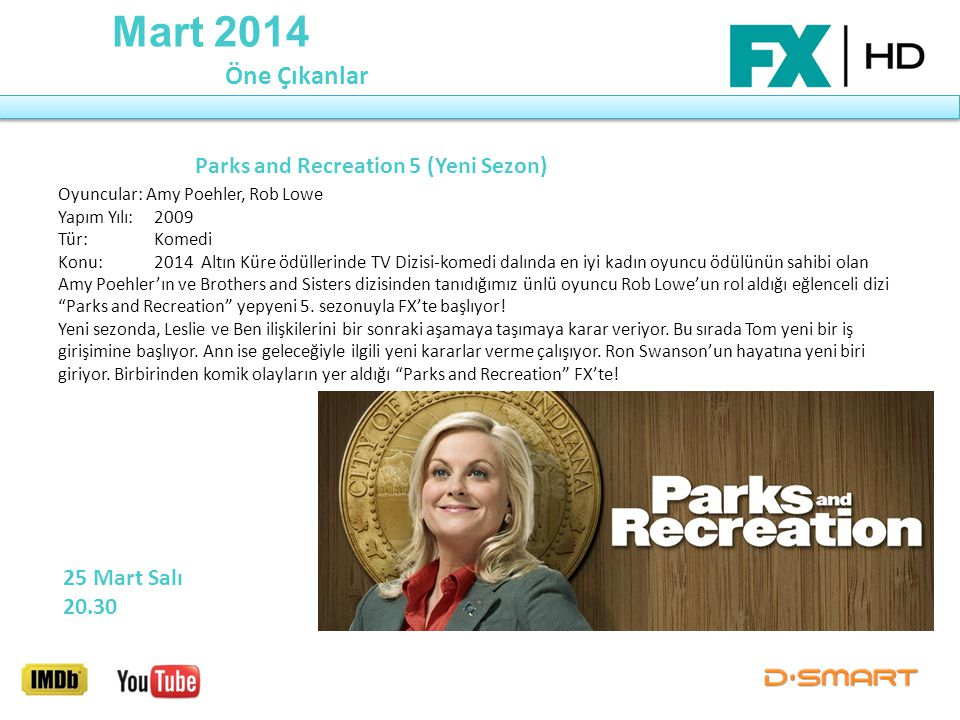 Mart 2014 Öne Çıkanlar Parks and Recreation 5 (Yeni Sezon)