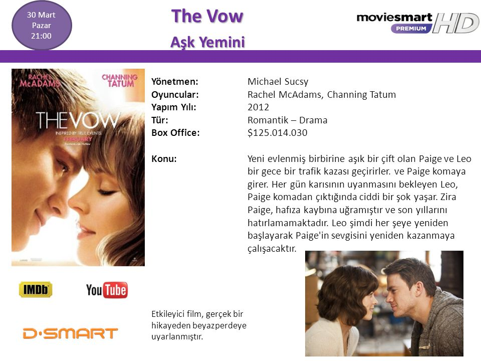 The Vow Aşk Yemini Yönetmen: Michael Sucsy