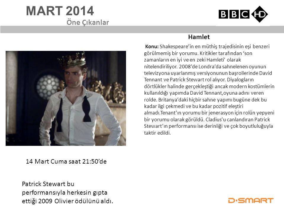 MART 2014 Öne Çıkanlar Hamlet 14 Mart Cuma saat 21:50'de