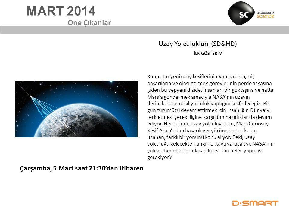 MART 2014 Öne Çıkanlar Uzay Yolculukları (SD&HD)
