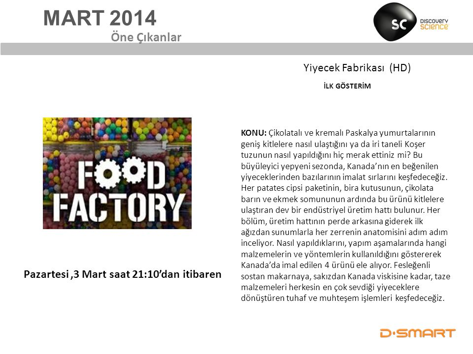 Yiyecek Fabrikası (HD) İLK GÖSTERİM