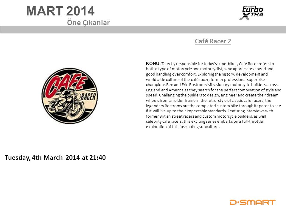 MART 2014 Öne Çıkanlar Café Racer 2 Tuesday, 4th March 2014 at 21:40
