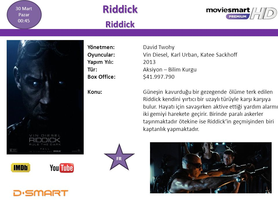 Riddick Yönetmen: David Twohy