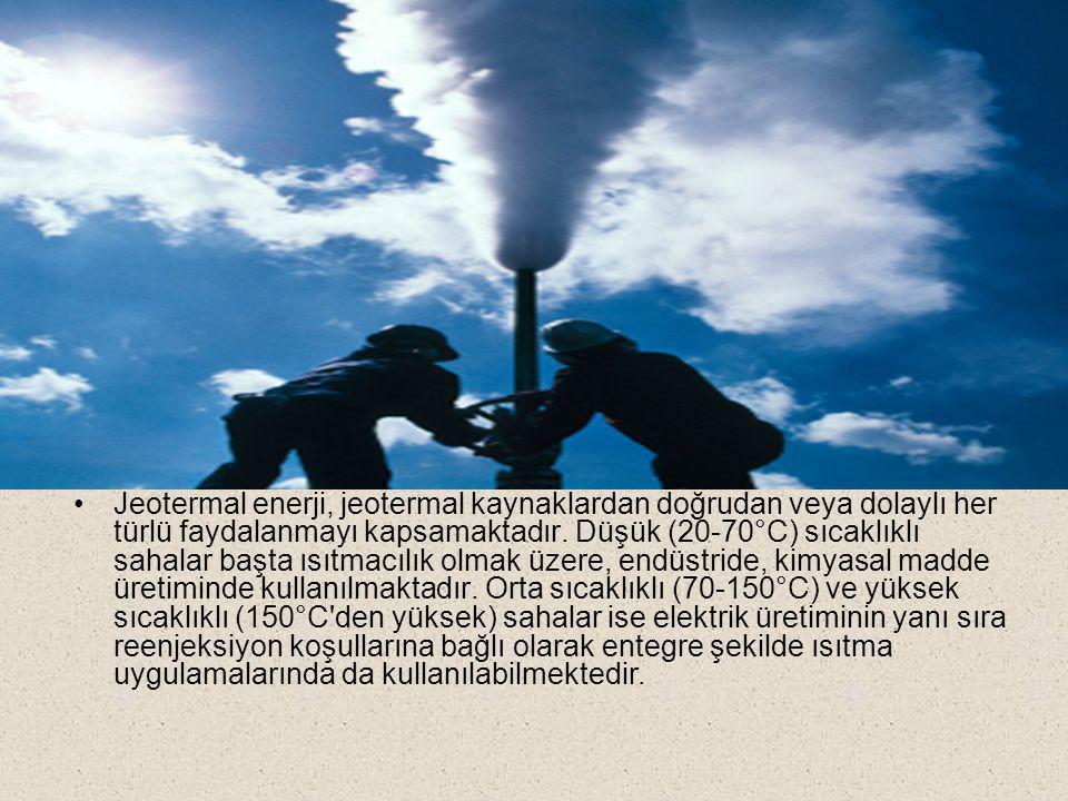 Jeotermal enerji, jeotermal kaynaklardan doğrudan veya dolaylı her türlü faydalanmayı kapsamaktadır.