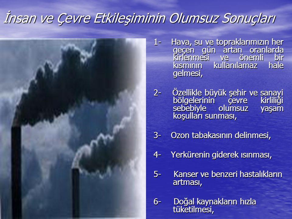 İnsan ve Çevre Etkileşiminin Olumsuz Sonuçları