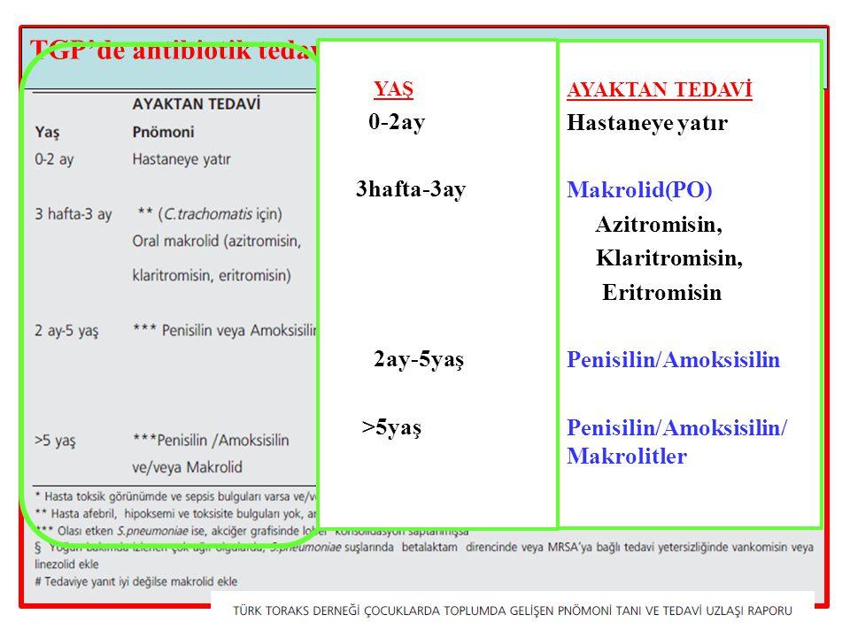 TGP'de antibiotik tedavisi