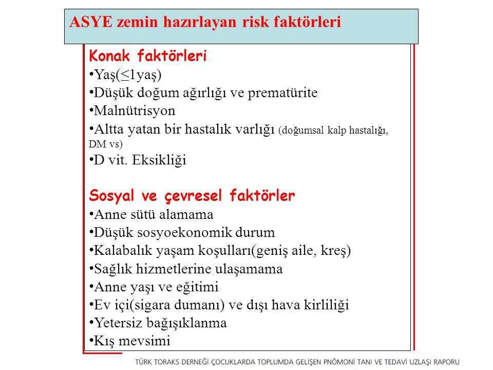 ASYE zemin hazırlayan risk faktörleri