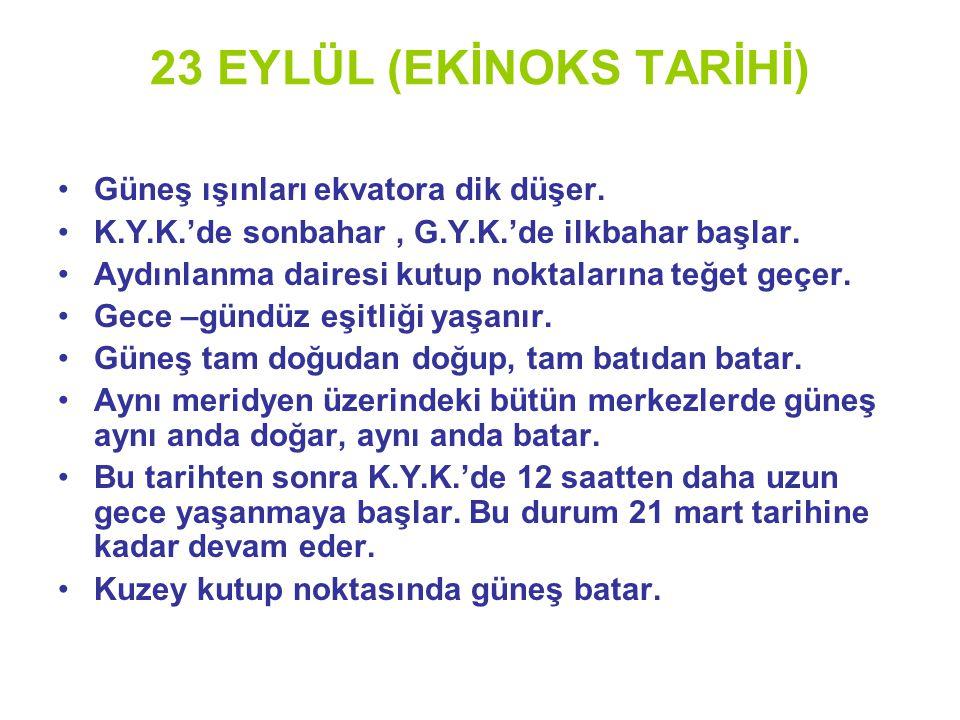 23 EYLÜL (EKİNOKS TARİHİ)