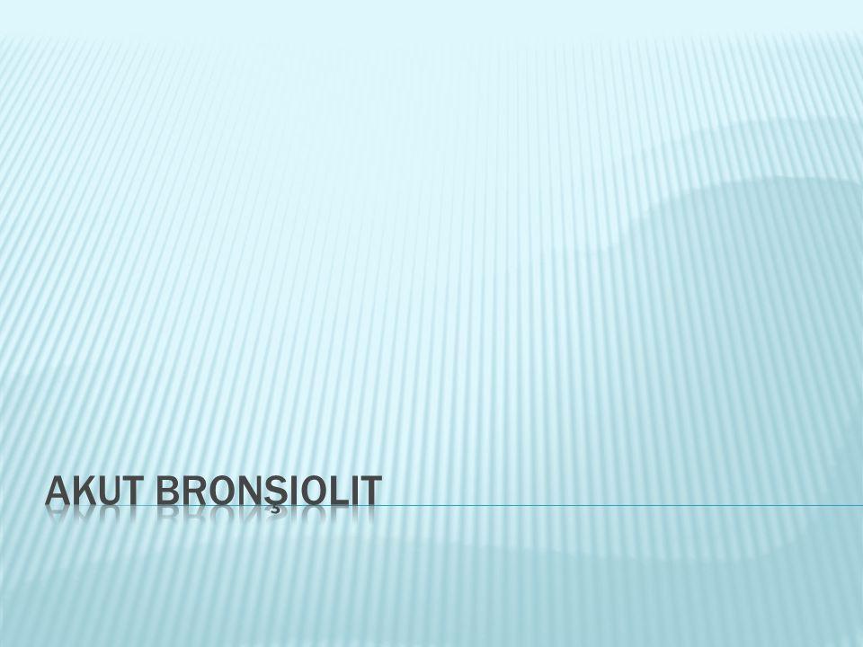 Akut Bronşiolit