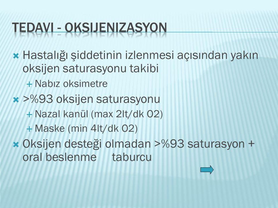 Tedavi - oksijenizasyon