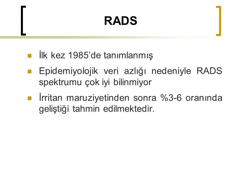 RADS İlk kez 1985'de tanımlanmış