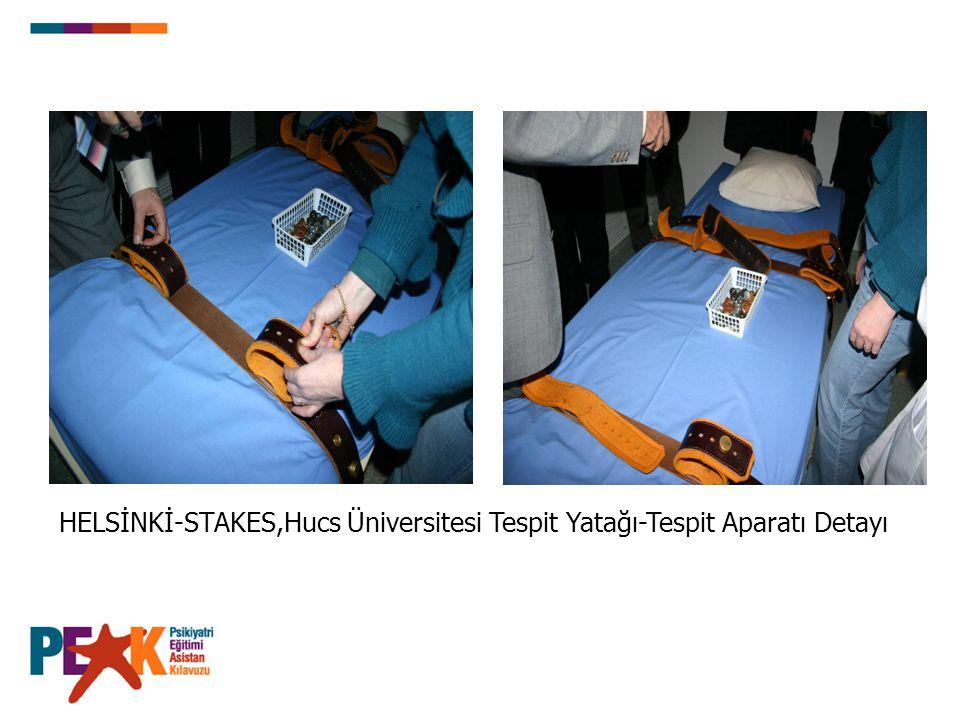 HELSİNKİ-STAKES,Hucs Üniversitesi Tespit Yatağı-Tespit Aparatı Detayı