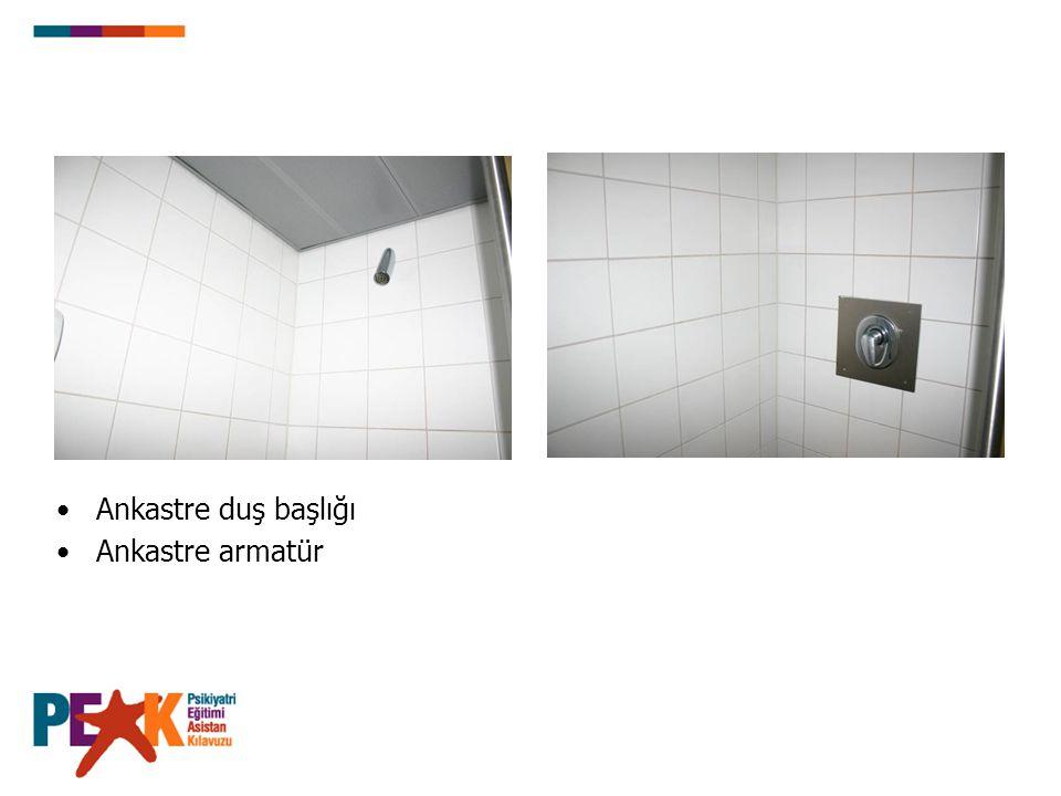Ankastre duş başlığı Ankastre armatür