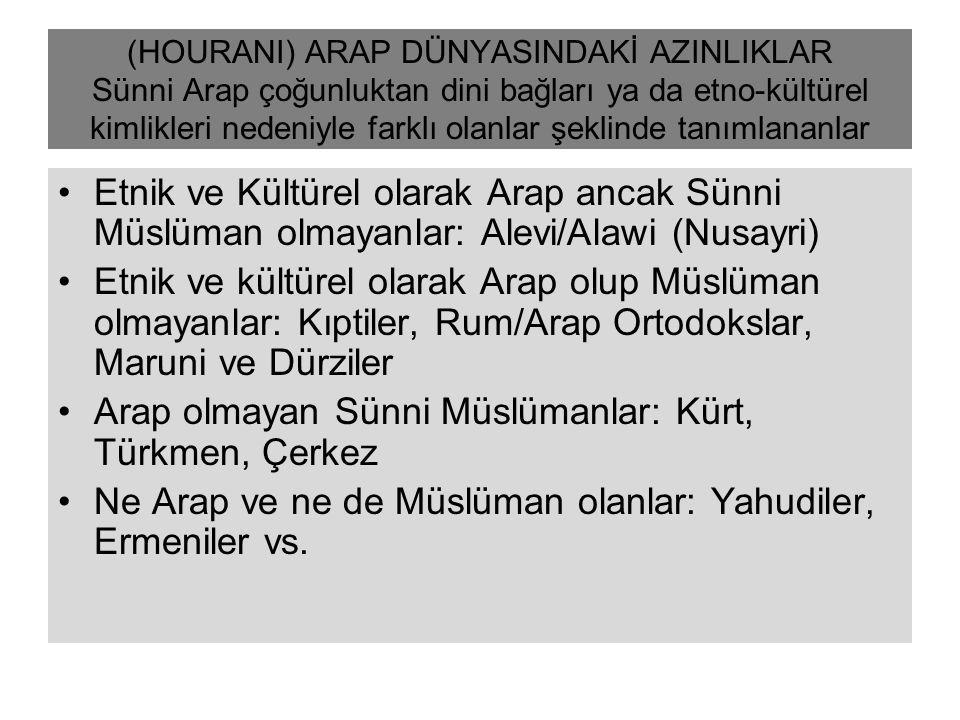 Arap olmayan Sünni Müslümanlar: Kürt, Türkmen, Çerkez