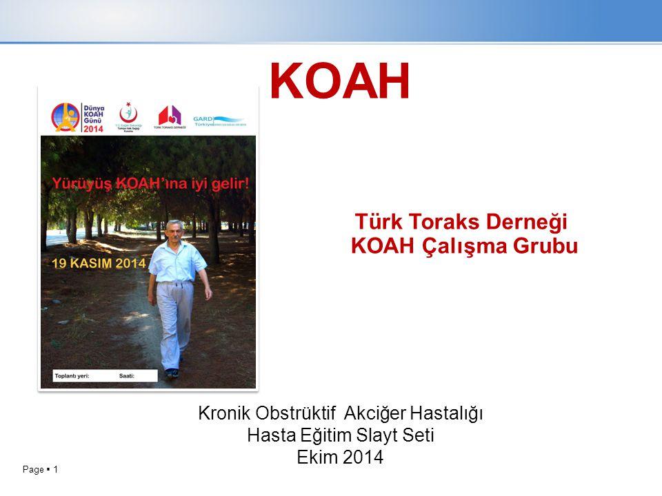 KOAH Türk Toraks Derneği KOAH Çalışma Grubu