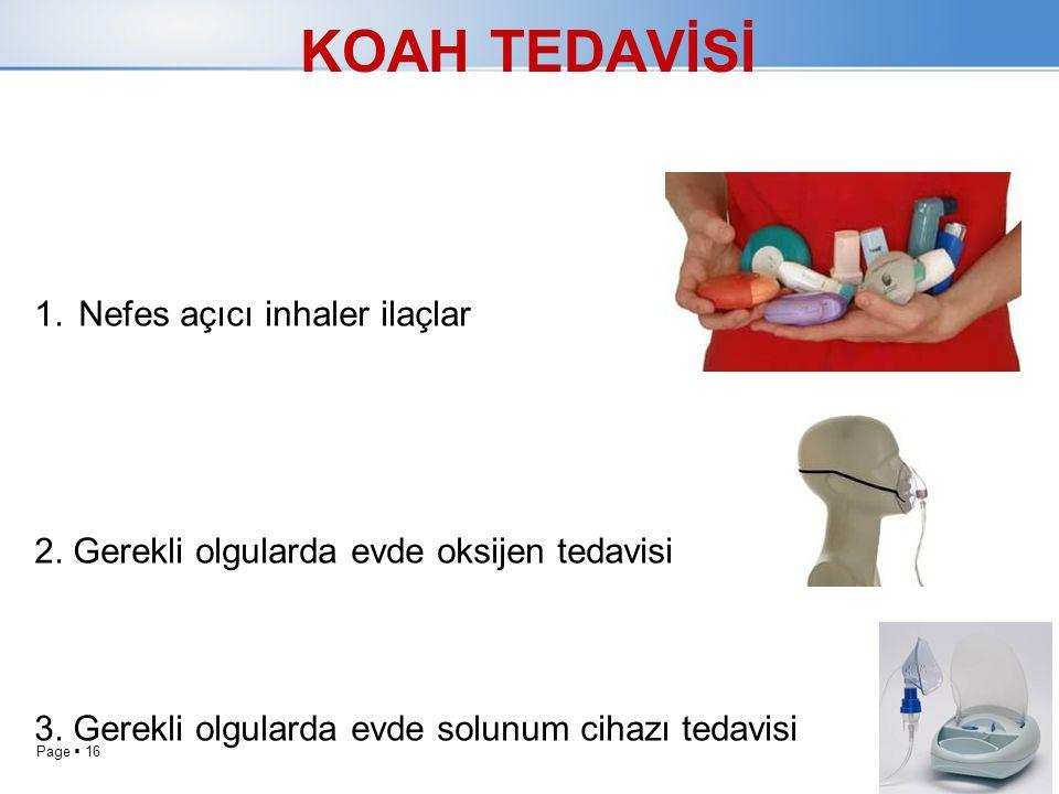 KOAH TEDAVİSİ Nefes açıcı inhaler ilaçlar