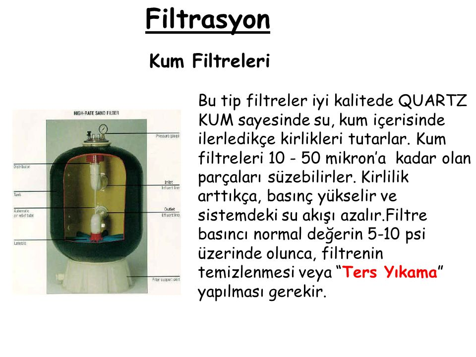 Filtrasyon Kum Filtreleri