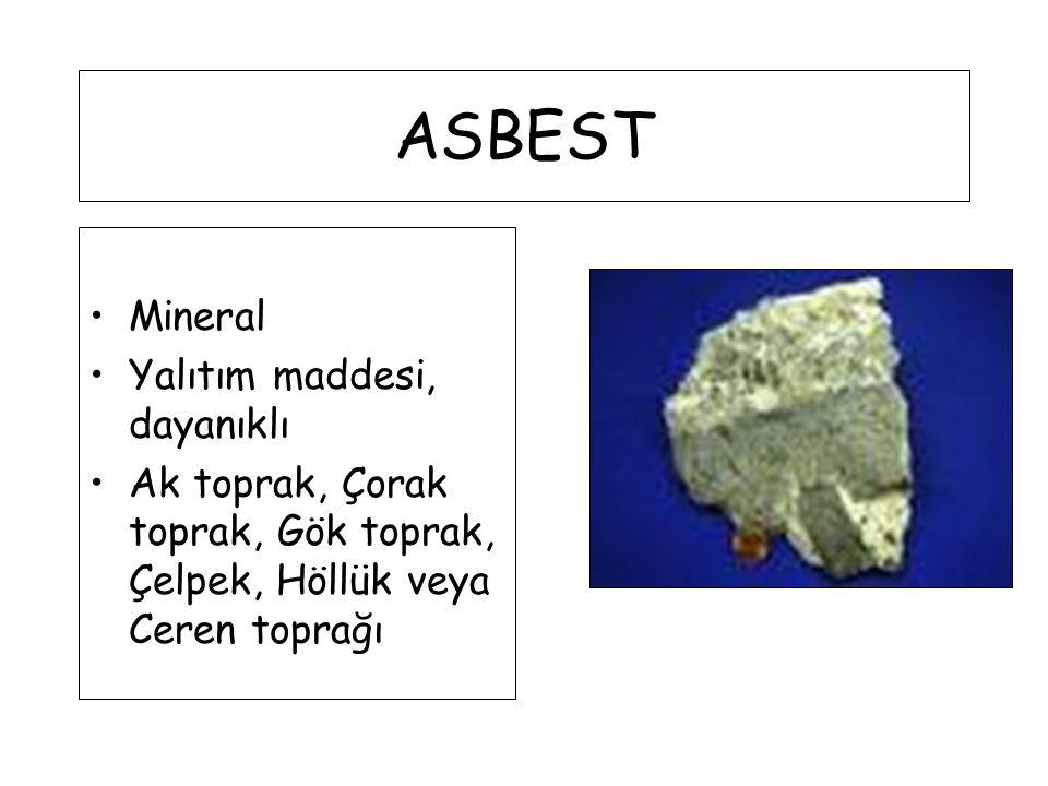 ASBEST Mineral Yalıtım maddesi, dayanıklı