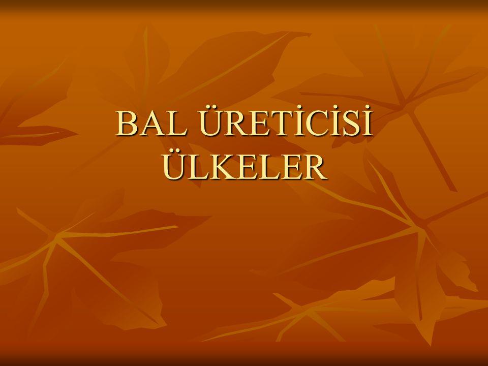 BAL ÜRETİCİSİ ÜLKELER