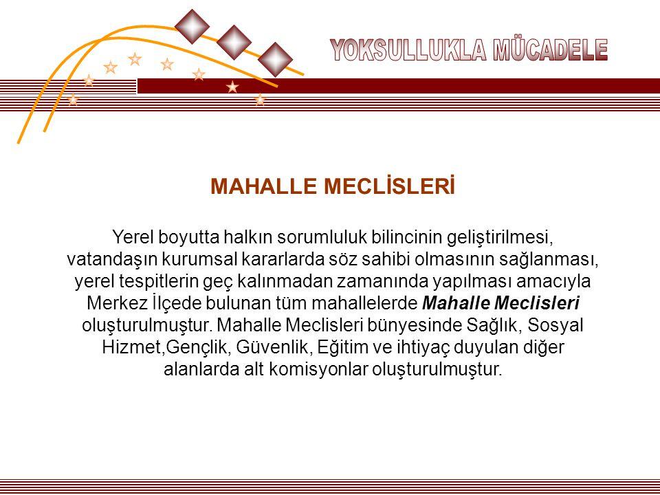 YOKSULLUKLA MÜCADELE MAHALLE MECLİSLERİ.