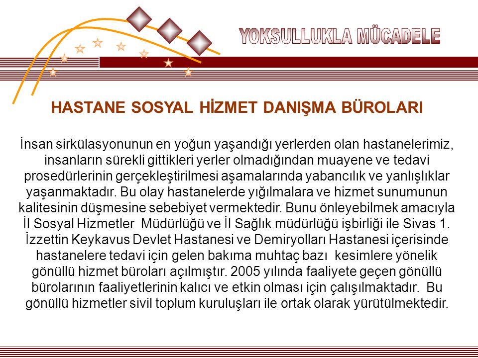HASTANE SOSYAL HİZMET DANIŞMA BÜROLARI