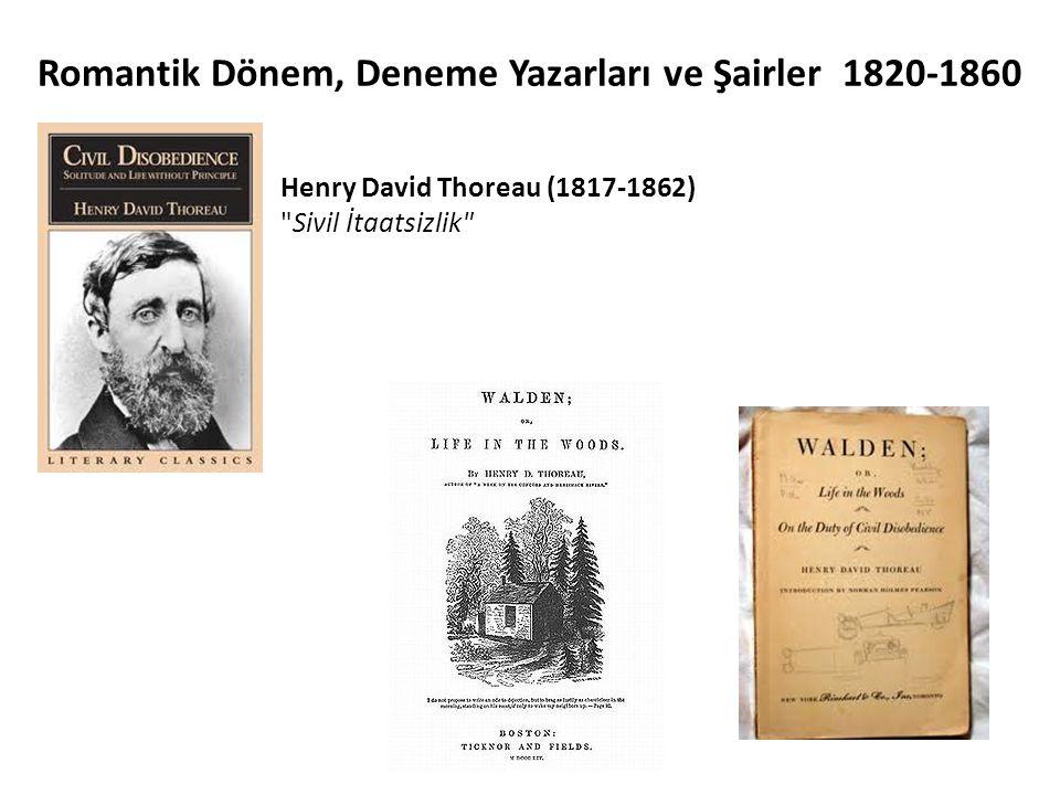 Romantik Dönem, Deneme Yazarları ve Şairler 1820-1860
