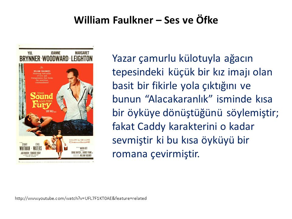 William Faulkner – Ses ve Öfke