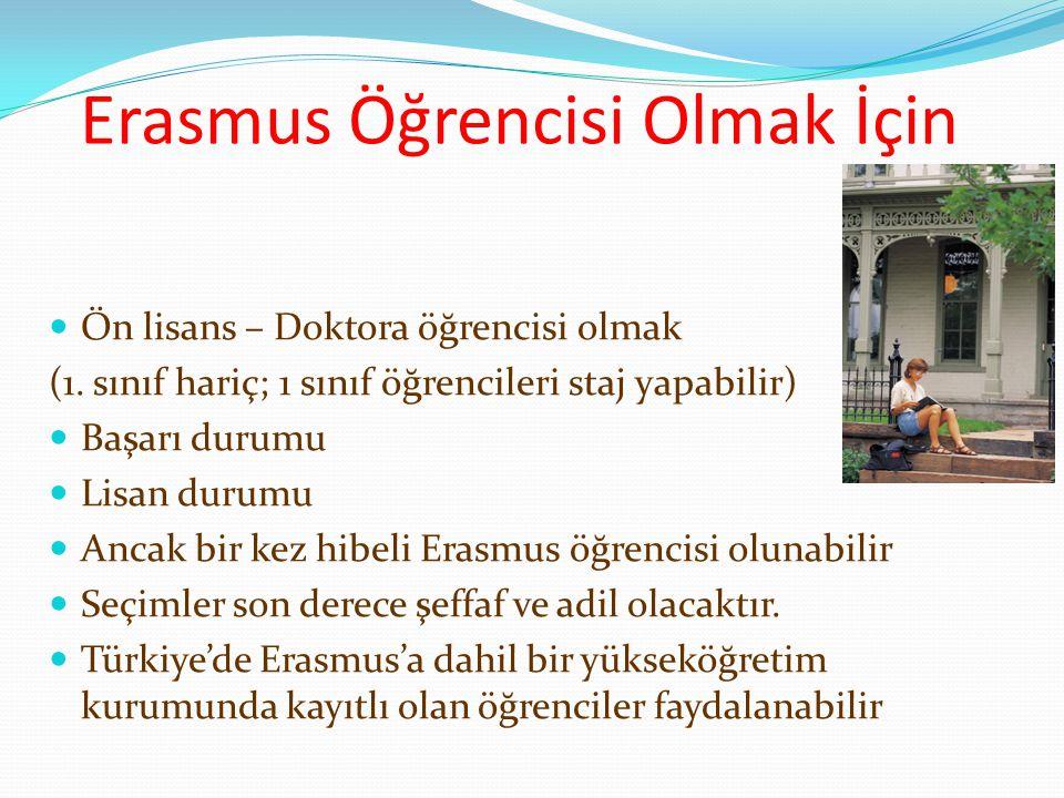 Erasmus Öğrencisi Olmak İçin