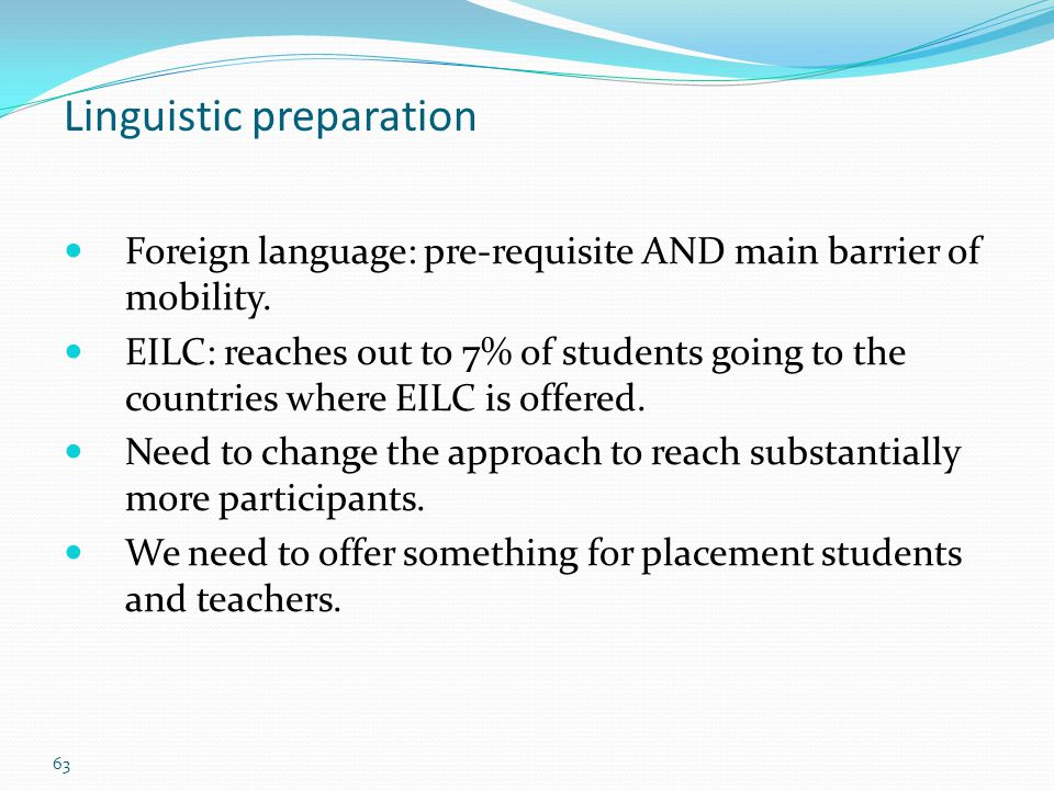 Linguistic preparation