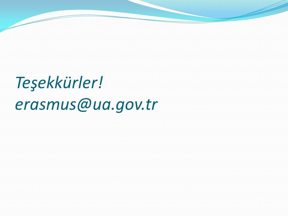 Teşekkürler! erasmus@ua.gov.tr