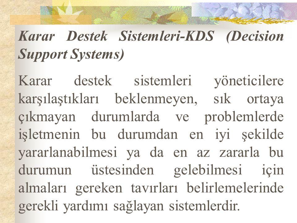 Karar Destek Sistemleri-KDS (Decision Support Systems)