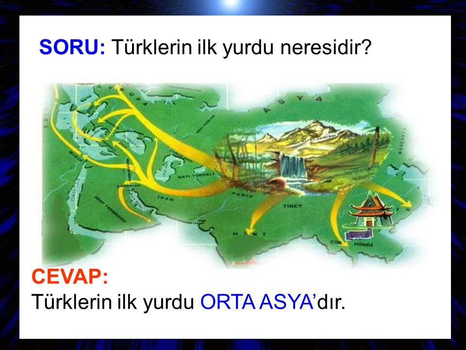 SORU: Türklerin ilk yurdu neresidir